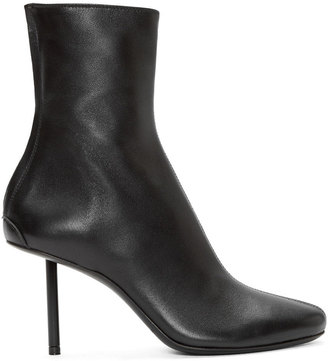 Haider Ackermann Black Leather Stiletto Bronson Boots $1,625 thestylecure.com
