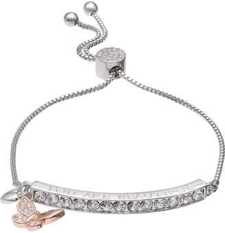 "Brilliance+ Brilliance ""You Are Beautiful"" Adjustable Bracelet with Swarovski Crystals"