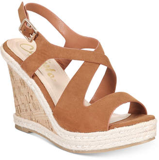 Callisto Brielle Espadrille Platform Wedge Sandals Women Shoes