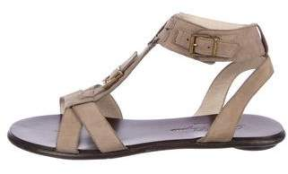 Robert Clergerie Buckle Suede Sandals