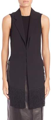 Maison Margiela Women's Satin Fringed Vest