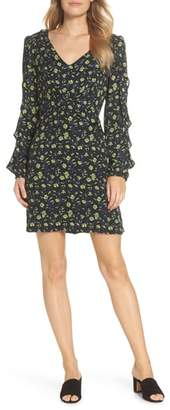 FOREST LILY Floral Ruffle Sleeve Dress
