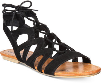 American Rag Marlie Lace-Up Sandals, Only at Macy's Women's Shoes $44.50 thestylecure.com
