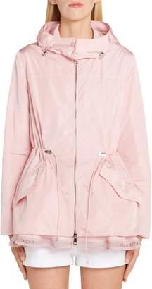 Moncler Loty Cinch Waist Rain Jacket