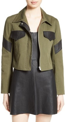 Women's Veda Linder Leather Trim Military Jacket $575 thestylecure.com