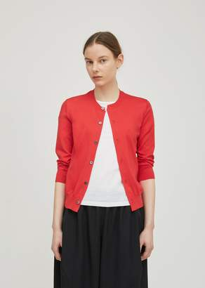 Comme des Garcons Cotton Jersey Light Cardigan Red