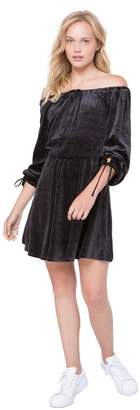 Juicy Couture Velour Flirty Off Shoulder Dress