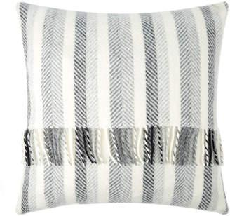 Tweedmill - Stripes Wool Cushion - 60x60cm - Monochrome