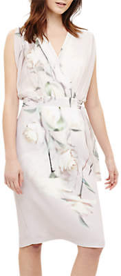 Phase Eight Sorell Wrap Floral Dress, Pale Iris