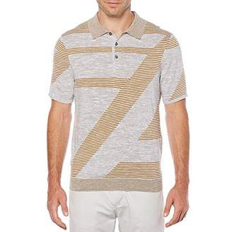 Perry Ellis Men's Space Dyed Stripe Knit Polo