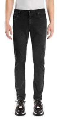 Fendi Logo Print Skinny Jeans