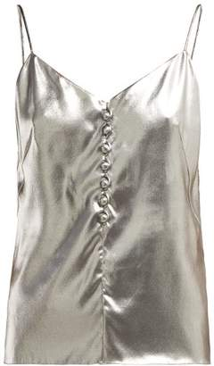 Hillier Bartley Metallic Silk Cami Top - Womens - Silver