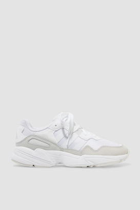 adidas Yung-96 Mesh, Faux Suede, Nubuck And Leather Sneakers - White