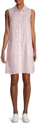 Saks Fifth Avenue Women's Sleeveless Linen Shirt Dress