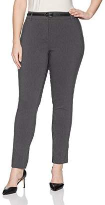Briggs Women's Plus Size New York Belted Pant
