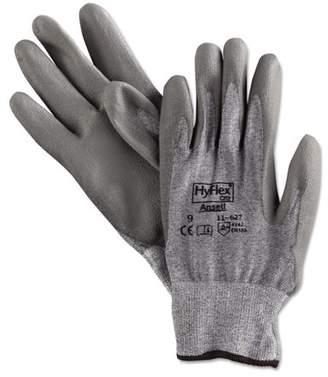 AnsellPro HyFlex 627 Light-Duty Gloves, Size 9, Dyneema/Lycra/Polyurethane, GY, 12 Pairs