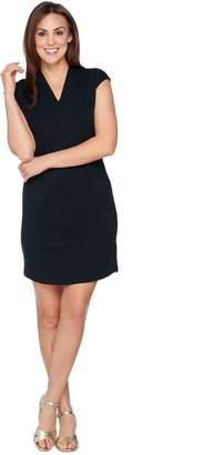 Isaac Mizrahi Live! Essentials Crossover V-neck Dress