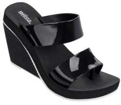 Melissa Ankle-Buckle Wedge Sandals