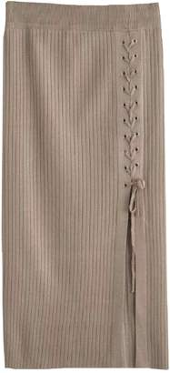 Goodnight Macaroon 'Randie' Criss-Cross Tied Side Slit Midi Skirt (4 Colors)