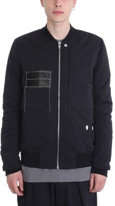 Drkshdw Black Nylon Bomber Jacket