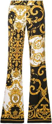 P.A.R.O.S.H. baroque print flared trousers