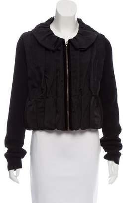 Lanvin Silk Knit-Trimmed Jacket