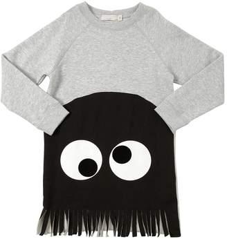 Stella McCartney Monster Printed Cotton Sweatshirt Dress