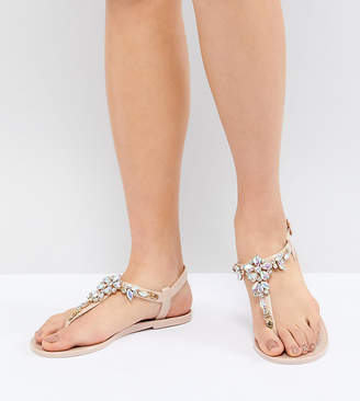 Park Lane Embellished Jelly Flat Sandals