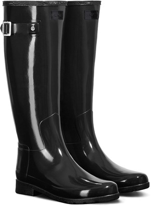 Hunter Refined High Gloss Waterproof Rain Boot