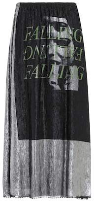 McQ Printed lamé midi skirt