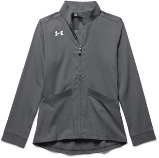 Under Armour Girls' UA Pregame Woven Warm Up Jacket