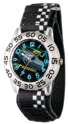 Cars Boys' Disney 3 Jackson Storm Clear Plastic Time Teacher Watch - Black