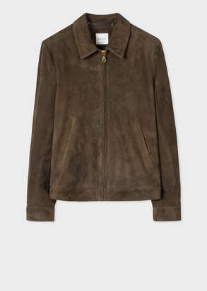 Paul Smith Men's Dark Brown Suede Jacket