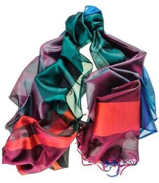 Black Sophia Kaleidoscope Silk Scarf