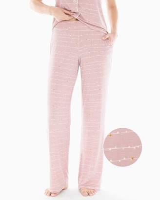 Cool Nights Pajama Pants Garland Stripe Pink