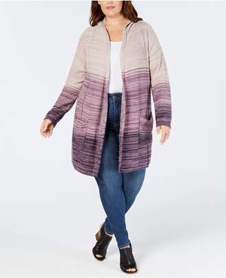 Style&Co. Style & Co Plus Size Ombre Hooded Cardigan