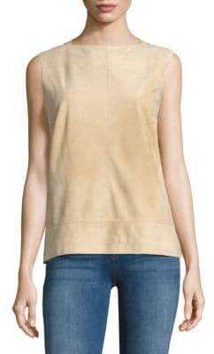 Carolina Herrera Zippered Suede Blouse