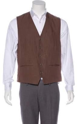 Brunello Cucinelli Linen Button-Up Vest