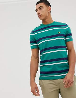 Lyle & Scott stripe tee in green