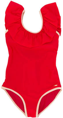 Chloé Kids ruffled swimsuit