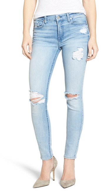 7 For All Mankind7 For All Mankind Ripped Skinny Jean