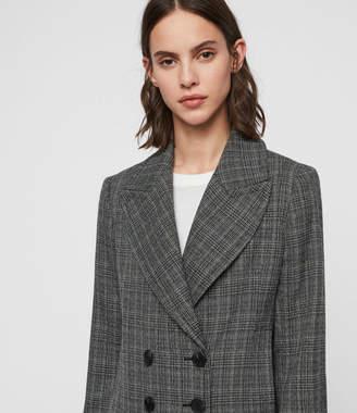 AllSaints Blair Check Coat