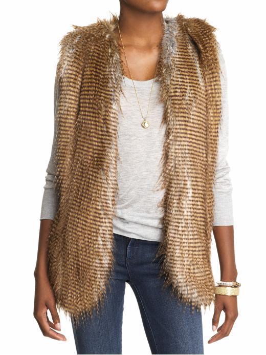 Twelfth Street By Cynthia Vincent Arizona Faux Fur Vest
