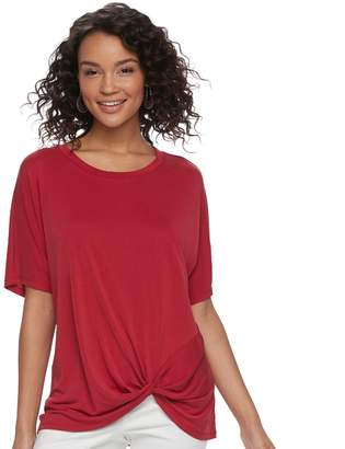 Miss Chievous Juniors' Knot-Front Tunic Tee