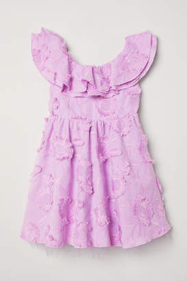 H&M Dress with Embroidery - Purple