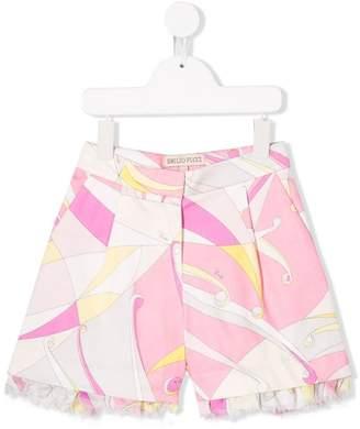 Emilio Pucci Junior abstract print shorts