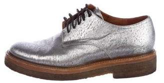 Dries Van Noten Metallic Round-Toe Oxfords