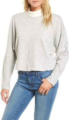 Splendid Sidelight Crop Mock Neck Pullover