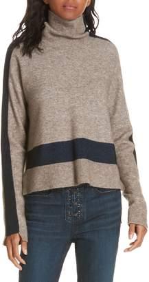 Veronica Beard Denisa Stripe Wool & Yak Down Blend Sweater