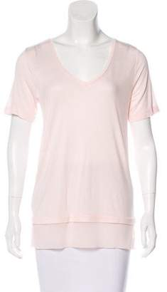 Vince Silk-Accented Short Sleeve Top w/ Tags